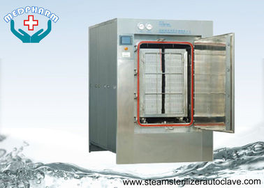 Cina Automatic Hinge Door Medical Waste Autoclave Steam Sterilizer Dengan Sistem PLC Touch Screen pemasok